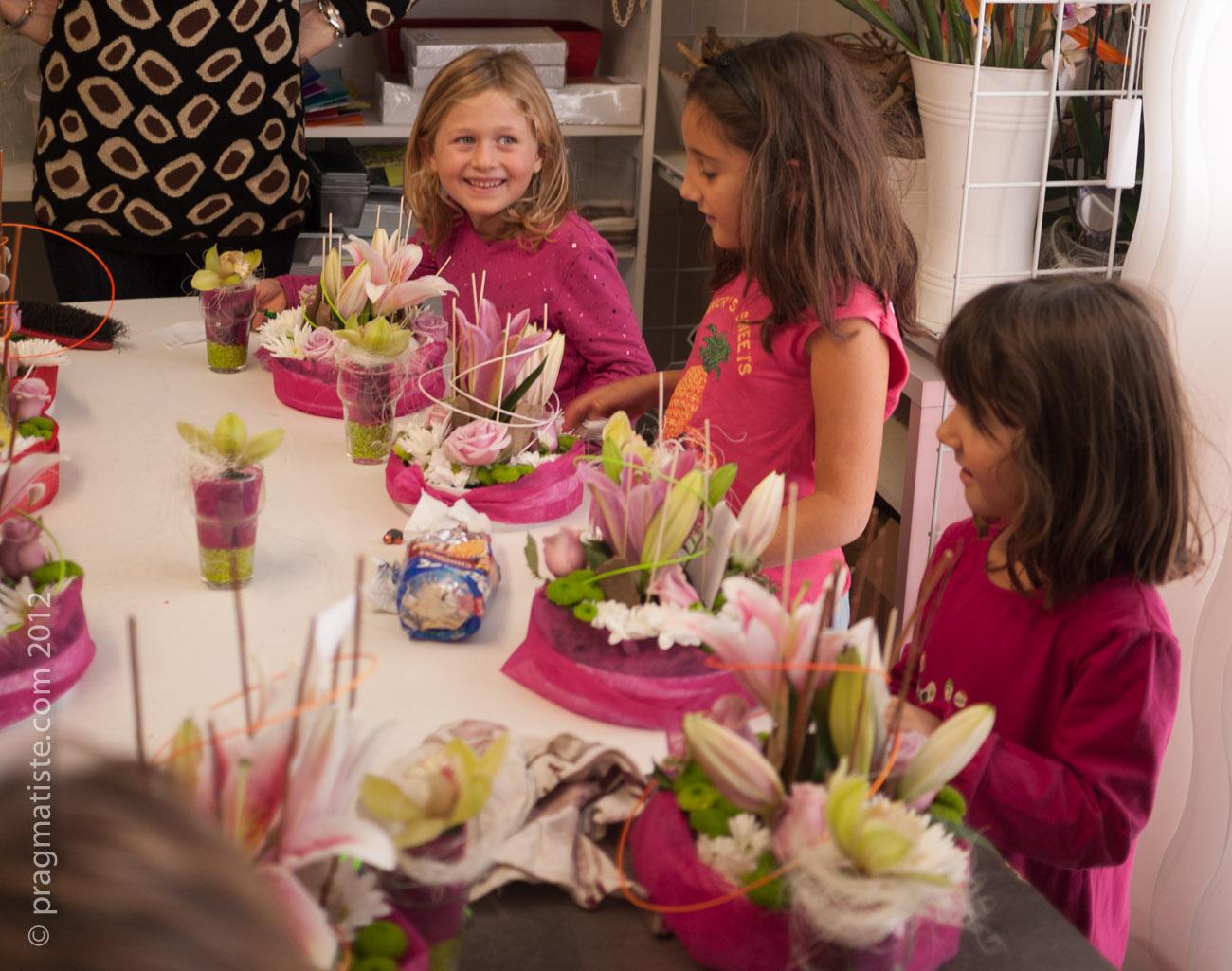 Atelier composition florale  Pragmatiste Kids